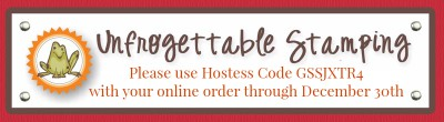 Unfrogettable Stamping | 2017 December host code for your online orders