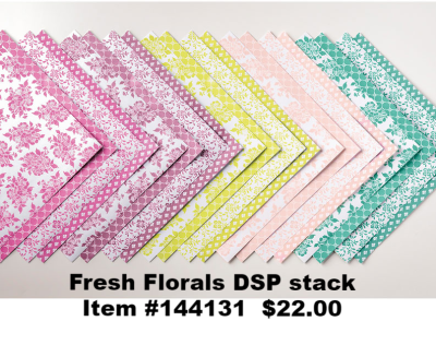 Unfrogettable Stamping   Fresh Florals In Color DSP stack by Stampin' Up!