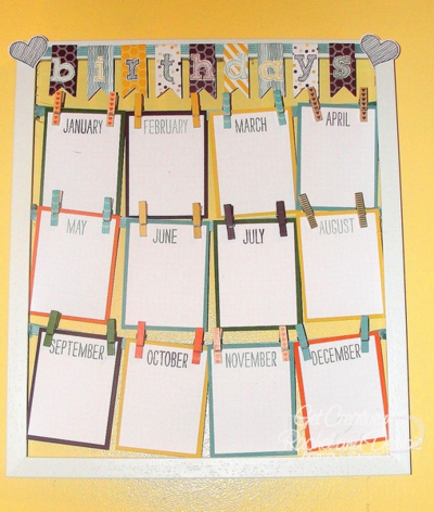 Unfrogettable Stamping | 2014 Week 7 Birthday Calendar tutorial for purchase