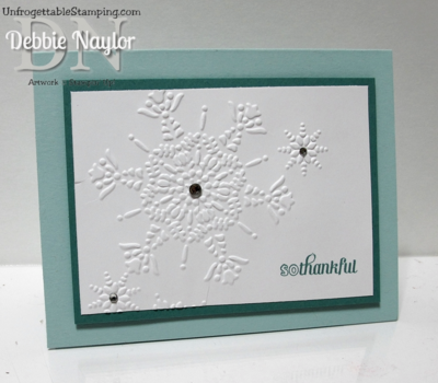 Unfrogettable Stamping | Fabulous Friday Christmas thank you card