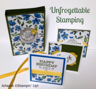 Unfrogettable Stamping | Fabulous Friday Painted Blooms 3x3 note card set