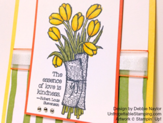 Unfrogettable Stamping | Love is Kindness swap card featuring the Painted Blooms DSP and Blendabilities markers