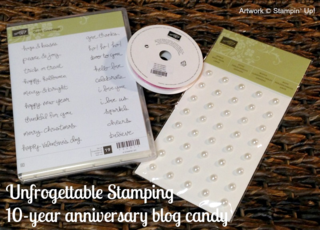 Unfrogettable Stamping | 10-yr Anniversary Blog Candy