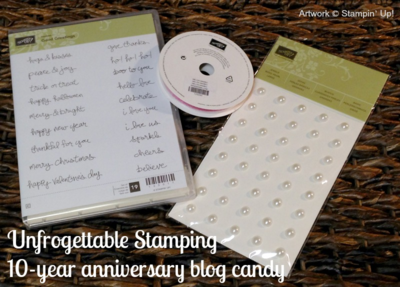 Unfrogettable Stamping | 10yr Anniversary Blog Candy