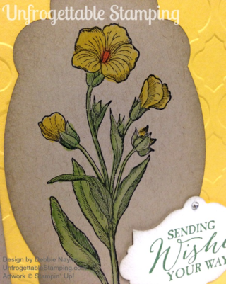 Unfrogettable Stamping   QE Sending Flower Wishes card featuring the Butterfly Basics stamp set by Stampin' Up! for week of 03-16-15