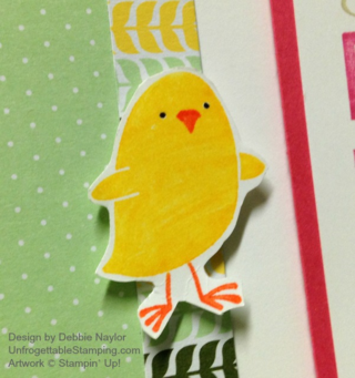 Unfrogettable Stamping | QE Easter card for week of 03-30-2015 featuring For Peep's Sake stamp set and All Abloom DSP stack by Stampin' Up!
