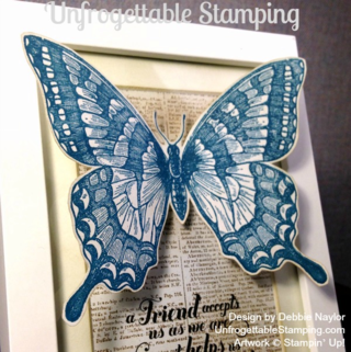 Unfrogettable Stamping | Fabulous Friday altered frame featuring the Swallowtail, Dictionary and Feel Goods stamp sets by Stampin' Up!I