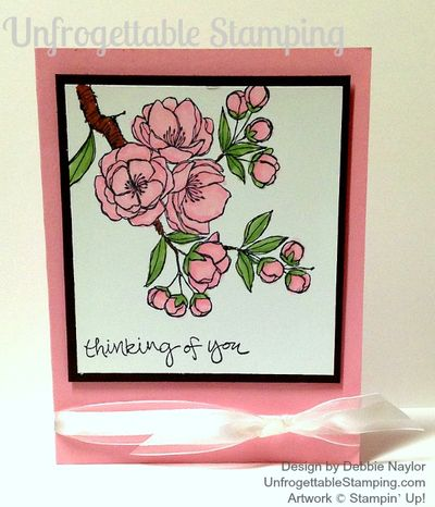 Unfrogettable Stamping Indescribable Gift pink card