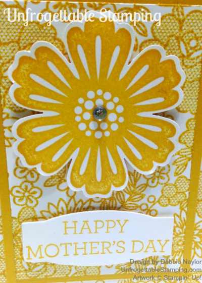 Unfrogettable Stamping | Fabulous Friday Monochromatic Mother's Day card featuring Something Lacy, Crazy About You and Mixed Bunch stamp sets by Stampin' Up!