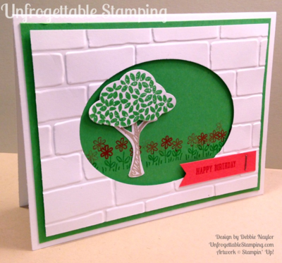 Unfrogettable Stamping | Catalog CASE'd QE birthday card featuring the Sprinkles of Life stamp set and coordinating Tree Builder punch by Stampin' Up! for week of 2015-06-22