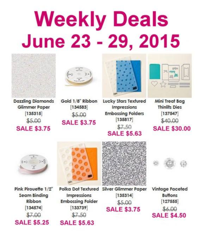 Unfrogettable Stamping | 25% off Weekly Deals by Stampin' Up! for June 23-29, 2015