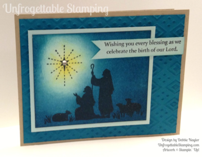 Unfrogettable Stamping | Fabulous Friday sponged Christmas card featuring the new stamp set Every Blessing and Boho Chic texture folder by Stampin' Up!