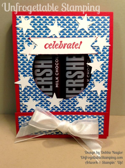 Unfrogettable Stamping | Fabulous Friday Fourty of July candy favor featuring Pretty Petals DSP stack, And Many More stamp set and Itty Bitty Accents punch pack by Stampin' Up!