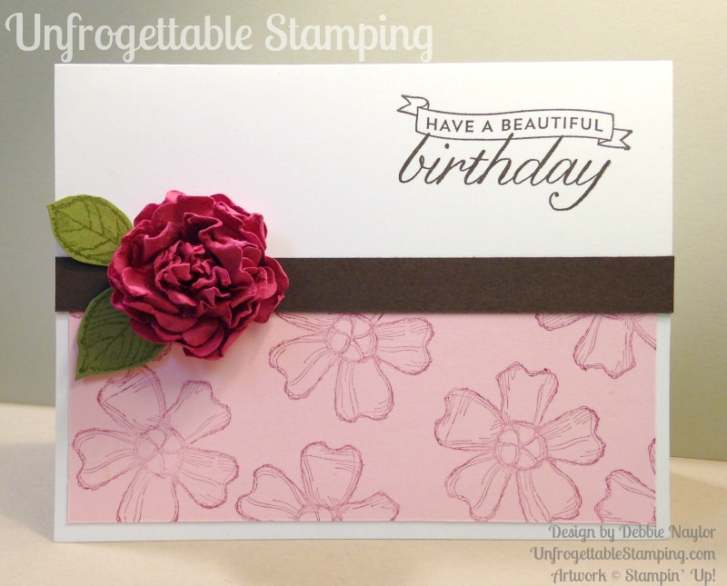 Quick easy birthday blossoms card with a punched paper flower unfrogettable stamping quick easy birthday card featuring a punched paper flower and the birthday bookmarktalkfo Choice Image