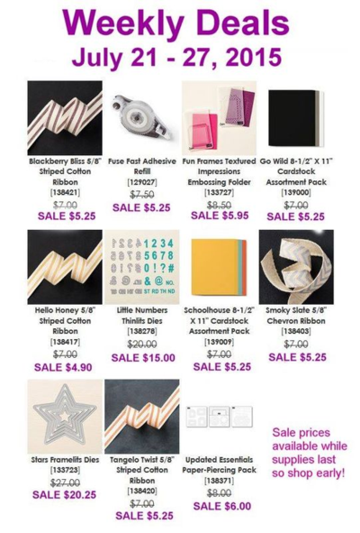 Unfrogettable Stamping | Weekly Deals from Stampin' Up! for week of July 21-27