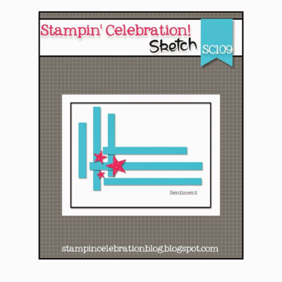 Unfrogettable Stampiong | SC109 sketch from Stampin' Celebration