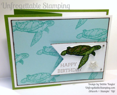 Unfrogettable Stamping | Fabulous Friday masculine Z-Fold birthday card featuring the From Land to Seat stamp set from Stampin' Up!