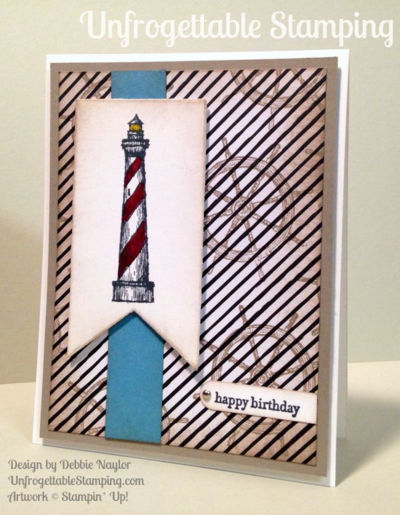 Unfrogettable Stamping | QE birthday card featuring the From Land to Sea stamp set by Stampin' Up! for week of 2015-08-03