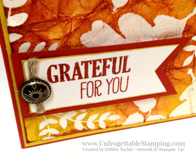 Unfrogettable Stamping | Fabulous Friday batik technique thank you card featuring the For All Things stamp set by Stampin' Up!