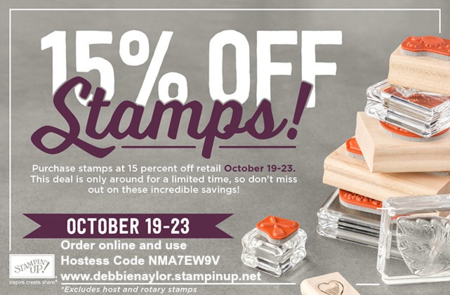 Unfrogettable Stamping | 15% off stamps from Stampin' Up! through Oct 23rd!!  Use Hostess Code NMA7EW9V