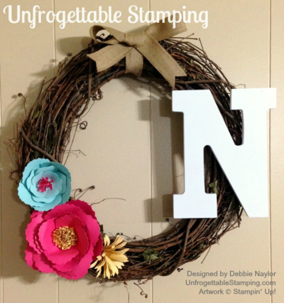Unfrogettable Stamping | Fabulous Friday floral wreath