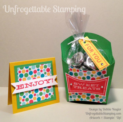 Unfrogettable Stamping | Fabulous Friday teacher gift featuring the Fry Box die and Cherry on Top DSP stack