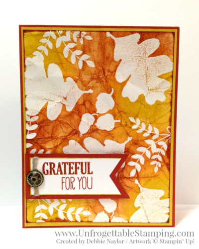Unfrogettable Stamping | Fabulous Friday batik technique fall card