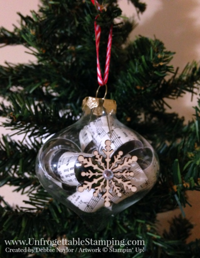 Unfrogettable Stamping | Fabulous Friday music-themed Christmas ornament