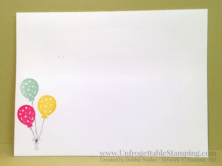 Unfrogettable Stamping Fabulous Friday catalog inspired Party Wishes birthday card7