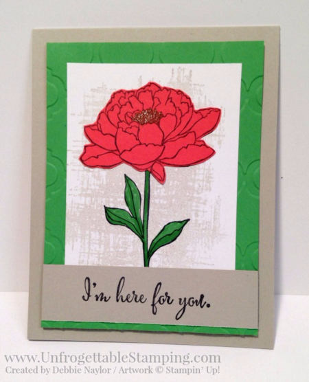 Unfrogettable Stamping | QE Here for You card featuring the You've Got This stamp set and 2015-2017 In Colors by Stampin' Up! for the week of 2016-02-08