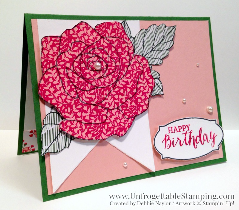 Qe Card Rose Wonder Birthday Card Unfrogettable Stamping