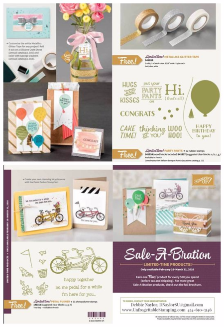 Unfrogettable Stamping | 3 new exclusive Sale-a-Bration selections from Stampin' Up!