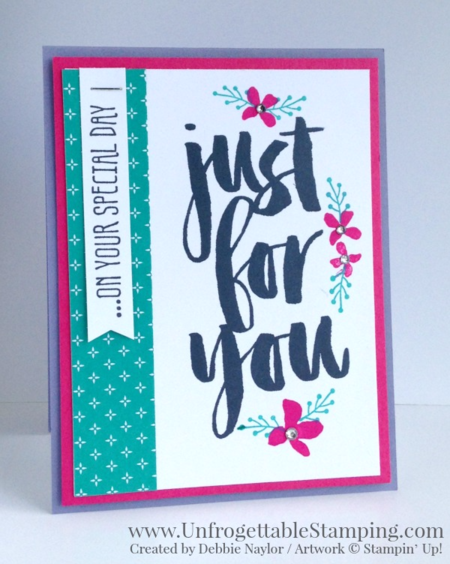 Unfrogettable Stamping | Fabulous Friday pop-up birthday card featuring the Sale-a-Bration exclusive Honeycomb Happiness, Botanicals For You and Perfect Pairings stamp sets from Stampin' Up! Earn one for FREE with a qualifying $50 purchase now through March 31, 2016!!