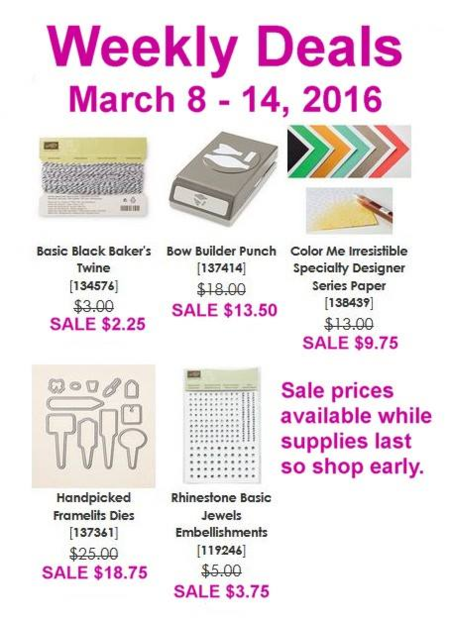 Unfrogettable Stamping | Weekly Deals from Stampin' Up! for week of Mar 8-14, 2016