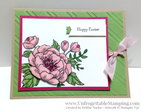 Unfrogettable Stamping | Fabulous Friday Easter card featuring the Birthday Bloom stamp set by Stampin' Up!