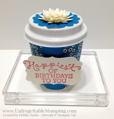 Unfrogettable Stamping | Fabulous Friday altered K-Cup favors featuring the Pretty Petals DSP stack, blossom bunch punch and Birthday Bouquet stamp set from Stampin' Up!