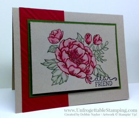Unfrogettable Stamping | QE watercolored birthday card featuring the Bloomin Birthday stamp set by Stampin' Up! for week of 2016-04-04
