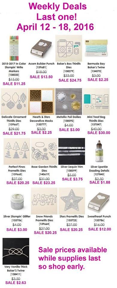 Weekly Deals April 12-18