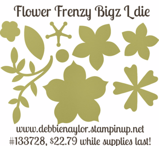 Unfrogettable Stamping | Flower Frenzy Bigz L die by Stampin' Up! #133728, $22.79
