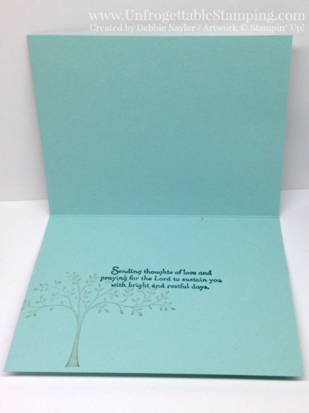 Unfrogettable Stamping | Fabulous Friday CASE'd sympathy card featuring the Thoughts and Prayers stamp set and woodgrain textured impressions folder by Stampin' Up!