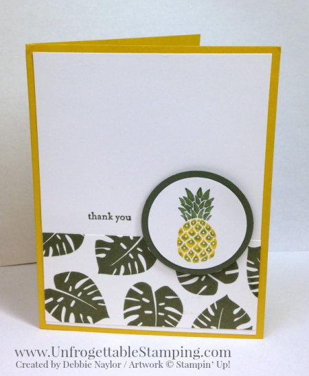 Unfrogettable Stamping QE Pop of Paradise thank you card 2016-06-20