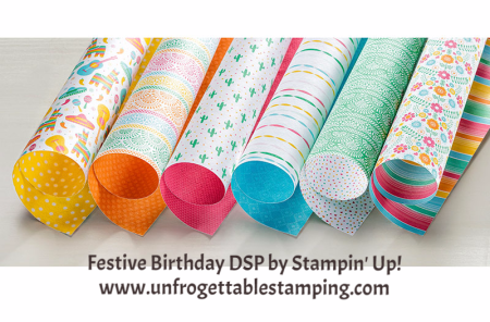 Unfrogettable Stamping | Festive Birthday DSP by Stampin' Up!