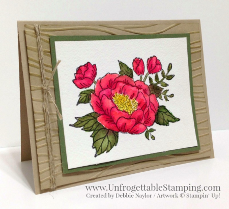 Unfrogettable Stamping | Fabulous Friday watercolored card featuring the Birthday Blooms stamp set by Stampin' Up!