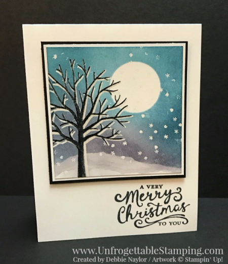 Unfrogettable Stamping | Fabulous Friday Pinterest-inspired card featuring the Sheltering Tree stamp set from Stampin' Up!  Original card by Heather Telford