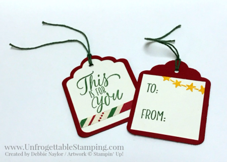Unfrogettable Stamping | Fabulous Friday Christmas tags featuring the This Christmas specialty DSP and Tin of Tags stamp set by Stampin' Up!