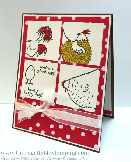 Unfrogettable Stamping   Fabulous Friday birthday card featuring the Hey, Chick Sale-a-Bration stamp set, Stylized Birthday stamp and Sending Love DSP stack from Stampin' Up!