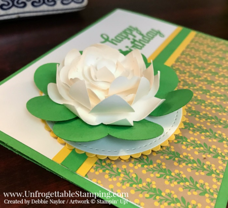 Unfrogettable Stamping | Fabulous Friday birthday card featuring In Color cucumber crush, Tin of Cards stamp set and Affectionately Yours DSP by Stampin' Up!