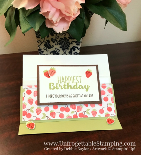 Unfrogettable Stamping | Fabulous Friday strawberry birthday card featuring the Sweet Treats suite by Stampin' Up!