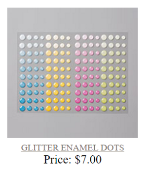 Unfrogettable Stamping | Glitter enamel dots by Stampin' Up!
