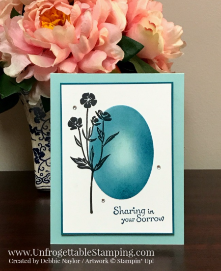 Unfrogettable Stamping | Fabulous Friday sponged sympathy card featuring the Wild about Flowers and Thoughts & Prayers stamp sets by Stampin' Up!
